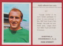 Sheffield Wednesday Peter Springett England 221